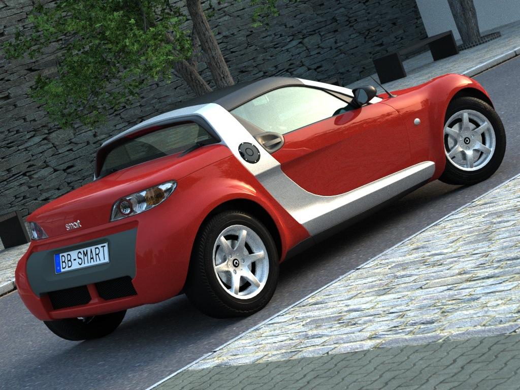 smart roadster (2007) 3d model 3ds max fbx c4d obj 176235
