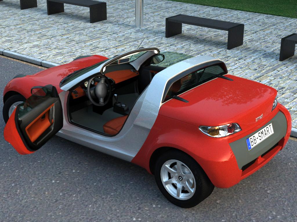 smart roadster (2007) 3d model 3ds max fbx c4d obj 176236