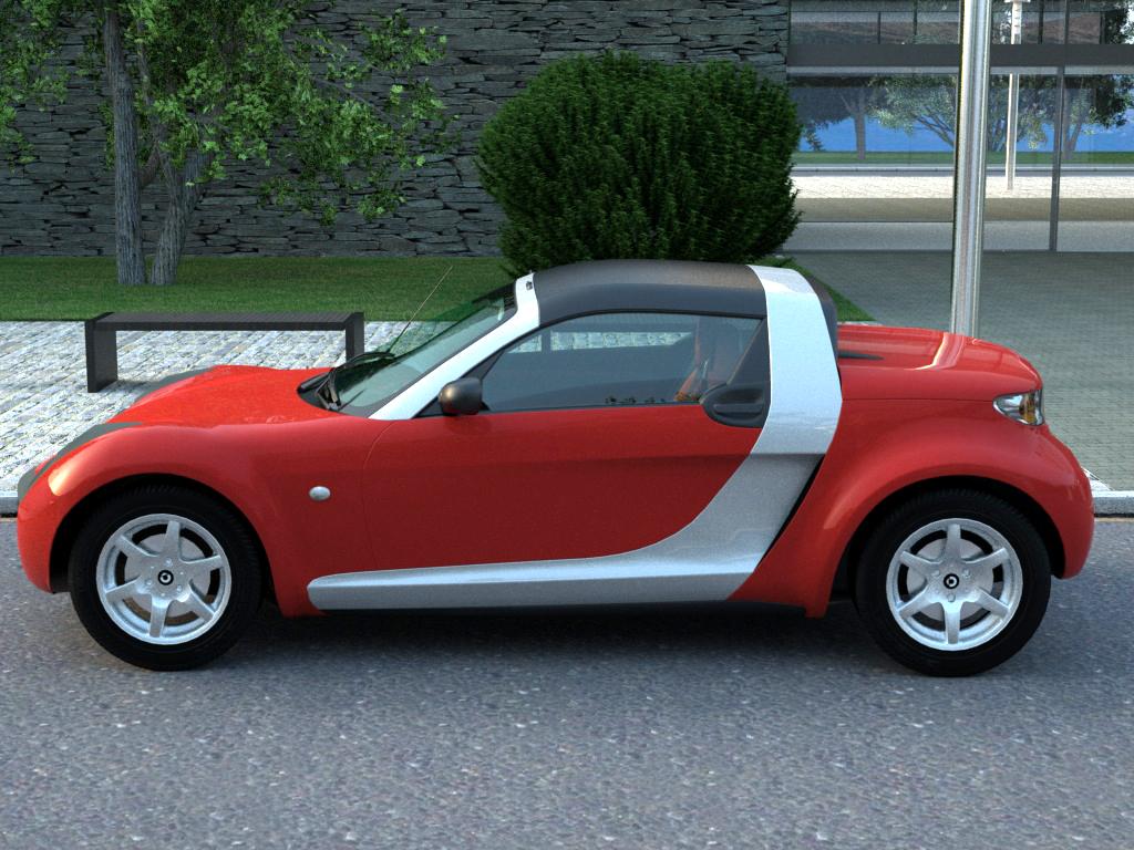 smart roadster 2007 3d model buy smart roadster 2007. Black Bedroom Furniture Sets. Home Design Ideas