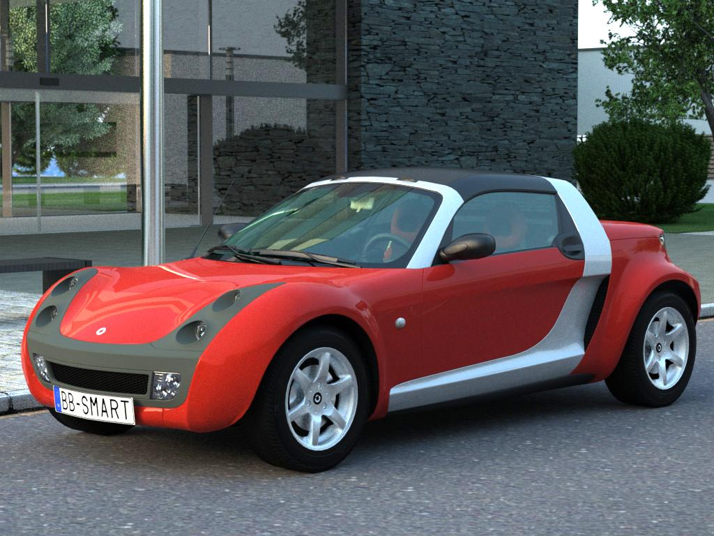 smart roadster (2007) 3d model 3ds max fbx c4d obj 176239