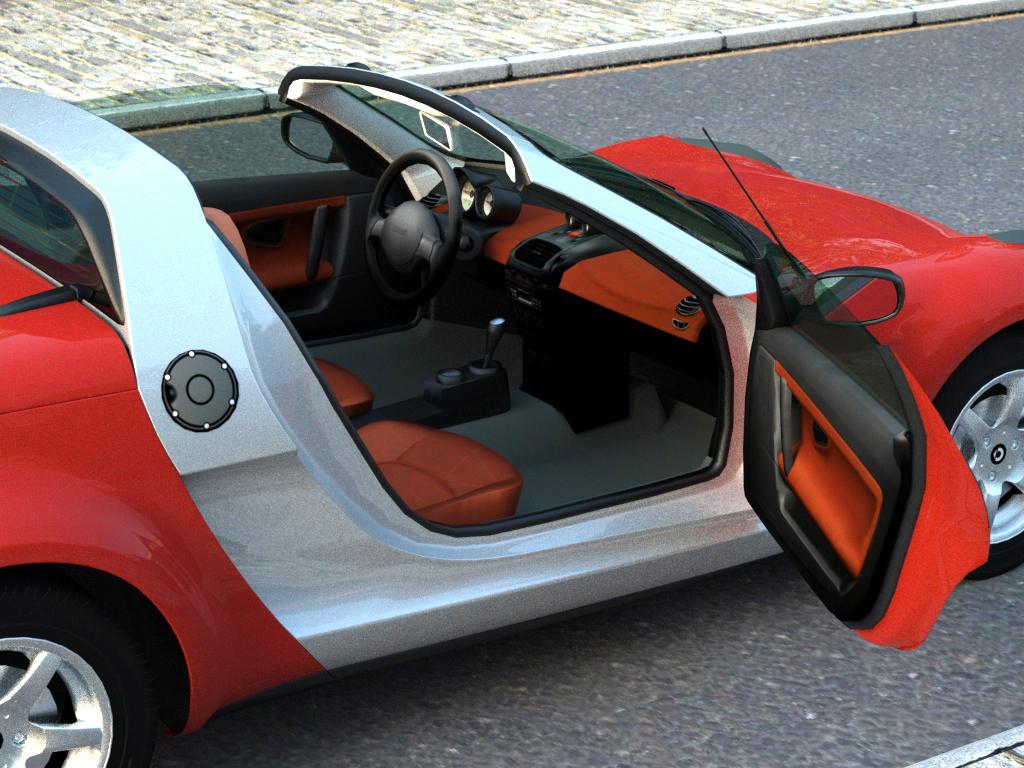 smart roadster (2007) 3d model 3ds max fbx c4d obj 176240