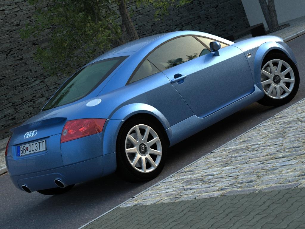 audi tt (2003) 3d model 3ds max fbx c4d obj 176278