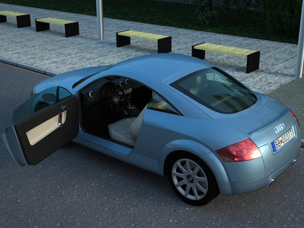 audi tt (2003) 3d model 3ds max fbx c4d obj 176279