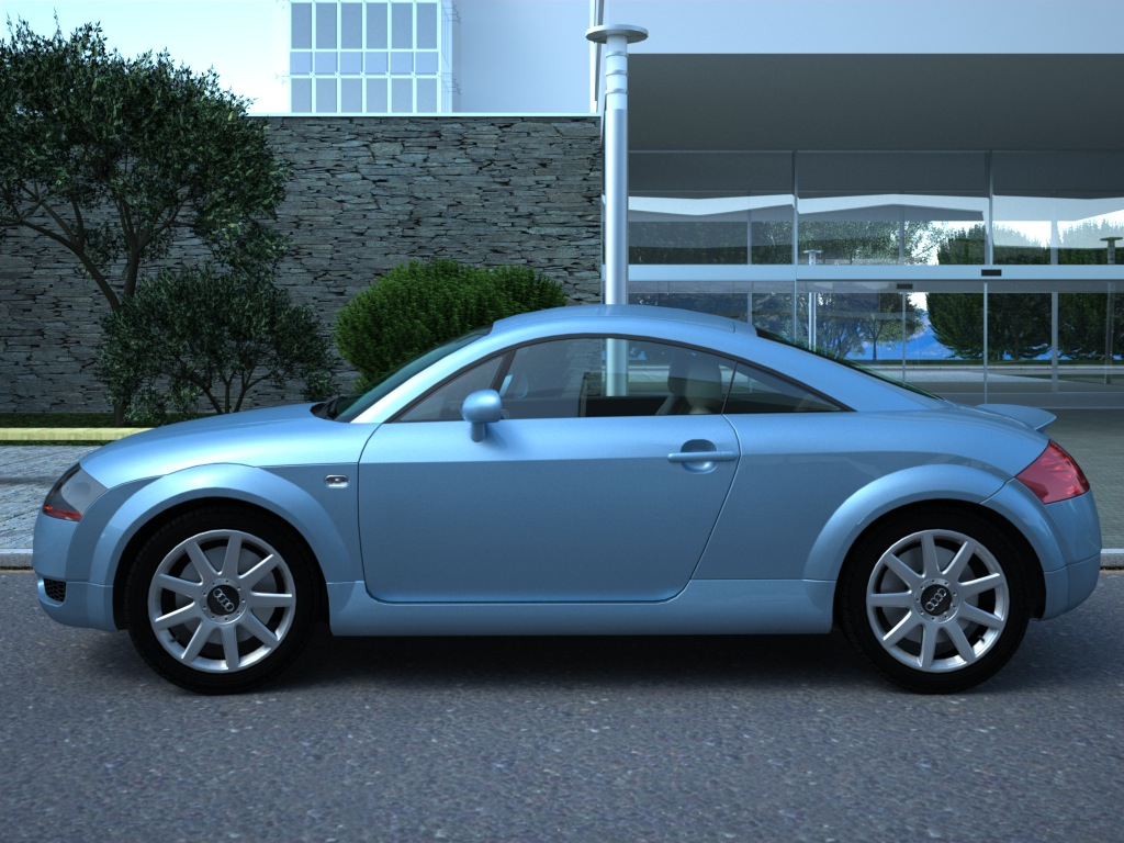 audi tt (2003) 3d model 3ds max fbx c4d obj 176281