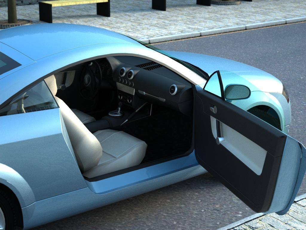 audi tt (2003) 3d model 3ds max fbx c4d obj 176283