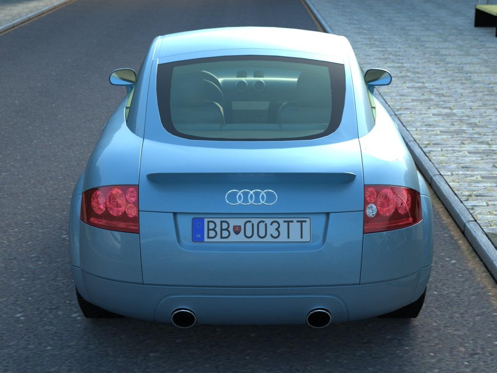 audi tt (2003) 3d model 3ds max fbx c4d obj 176284