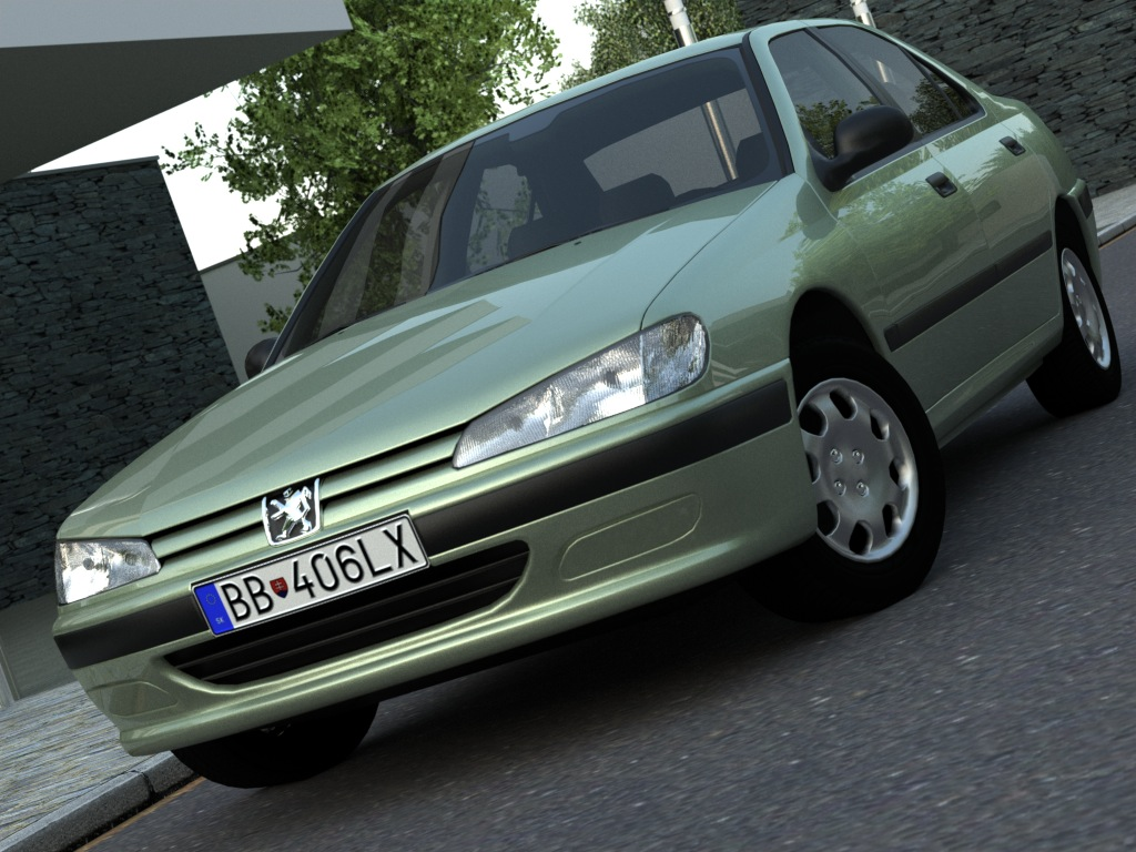 Peugeot 406 (1996) 3d modeli 3ds max fbx c4d obj 179343