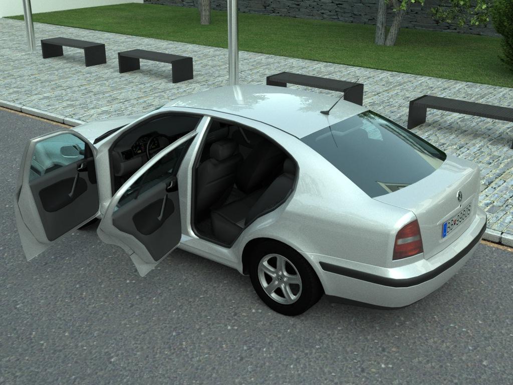 skoda octavia (1997) 3d model 3ds max fbx c4d obj 179719