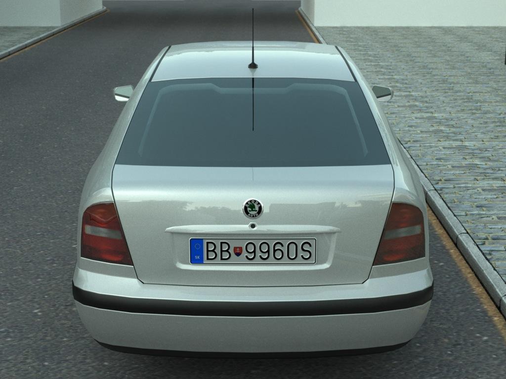 skoda octavia (1997) 3d model 3ds max fbx c4d obj 179724