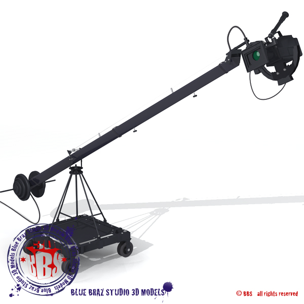 jimmy jib 3d model 3ds dxf fbx c4d dae obj 179961