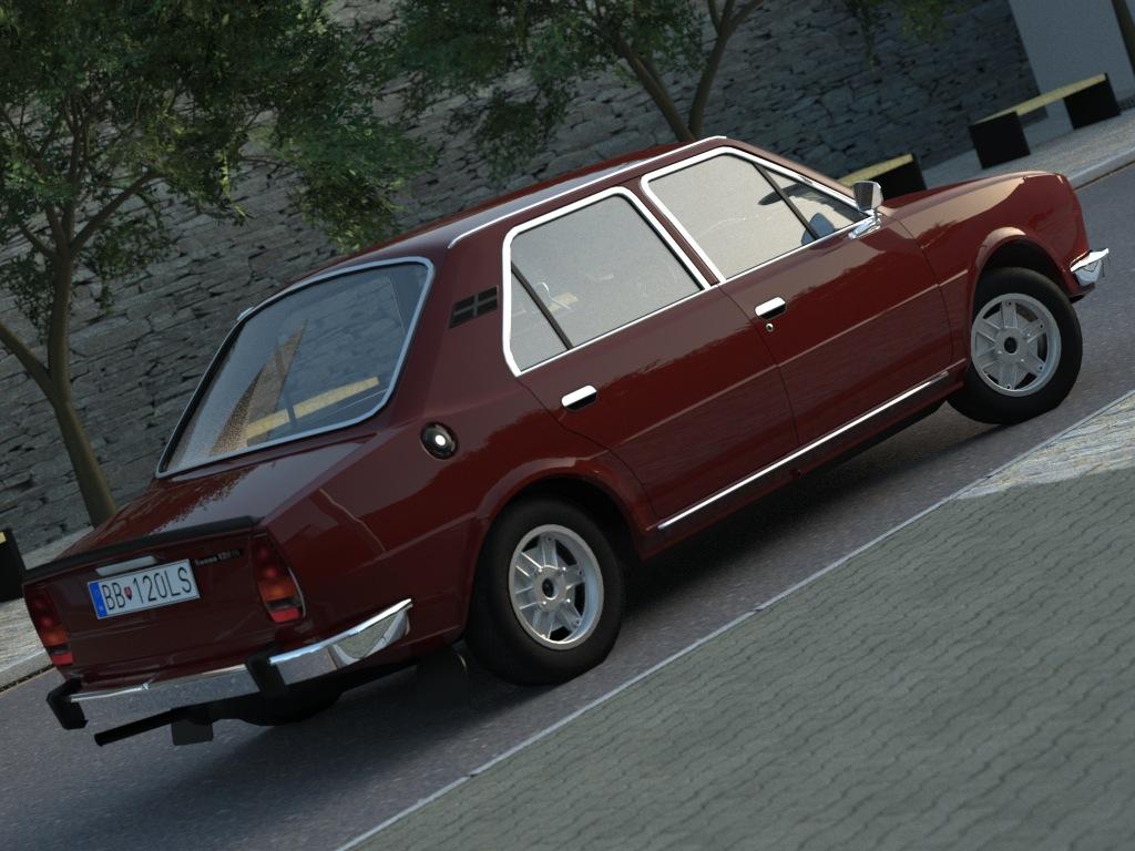 skoda 120ls (1977) 3d model 3ds max fbx c4d obj 185483