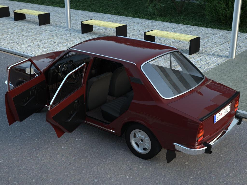 skoda 120ls (1977) 3d model 3ds max fbx c4d obj 185484