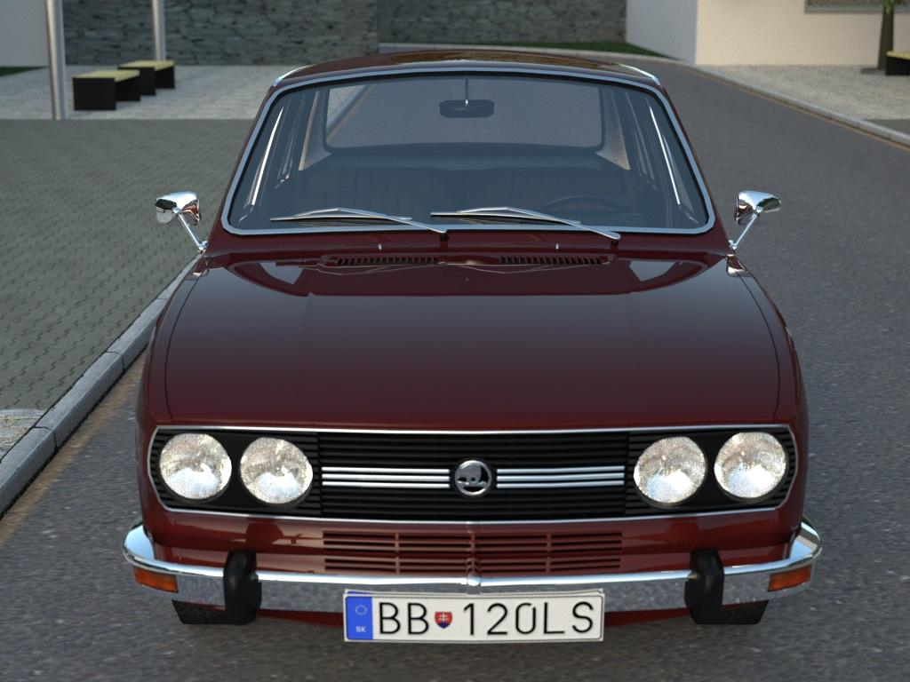 skoda 120ls (1977) 3d model 3ds max fbx c4d obj 185485