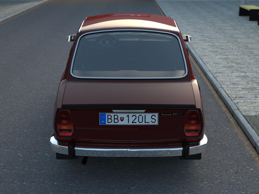 skoda 120ls (1977) 3d model 3ds max fbx c4d obj 185489