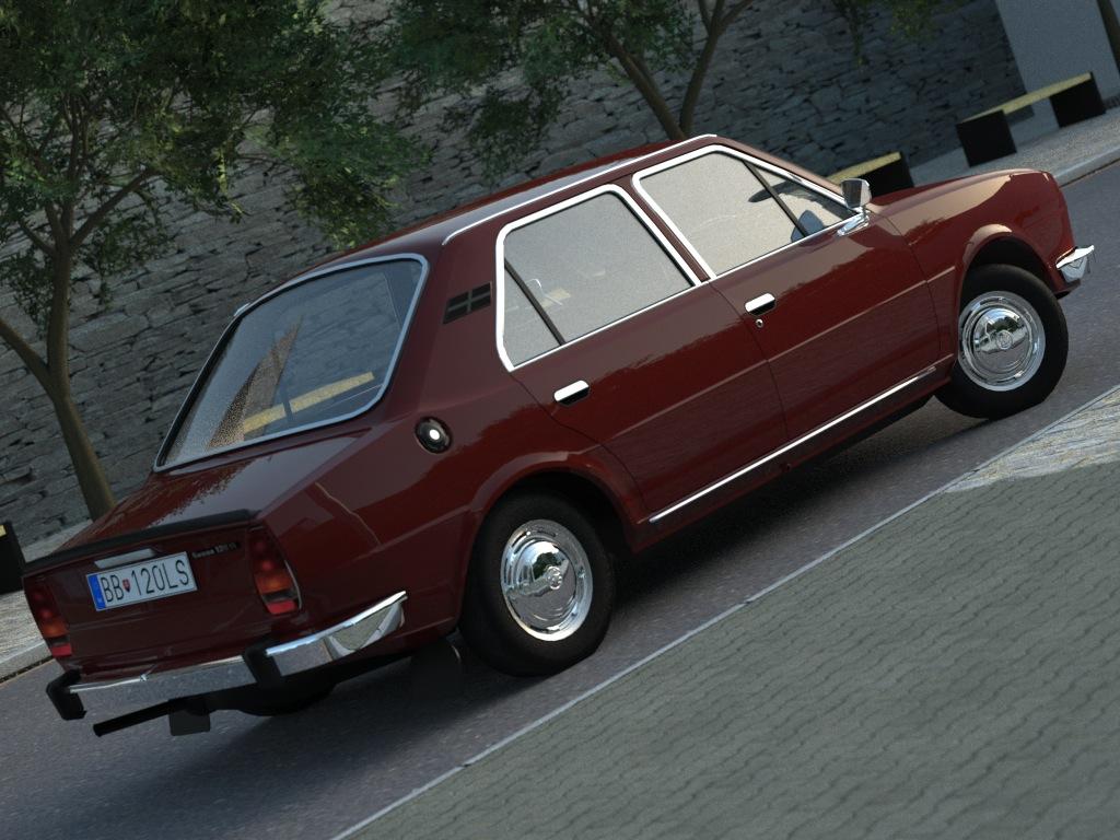 skoda 120ls (1977) 3d model 3ds max fbx c4d obj 185491