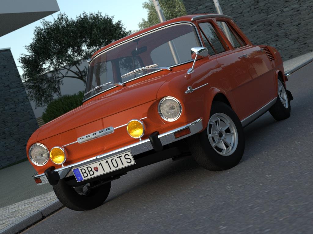 skoda 100 l (1970) 3d model 3ds max fbx c4d obj 185533