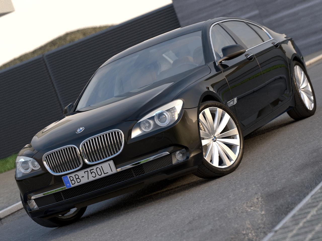 BMW 7 series Long (2009) 3d model 3ds max fbx c4d obj 185753