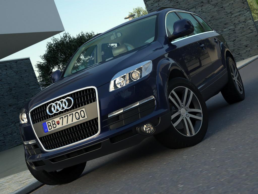 Audi Q7 (2008) 3d model 3ds max fbx c4d obj 185790