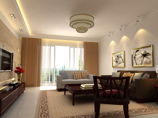 Living room 12 3d model buy living room 12 3d model for Living room 3ds max