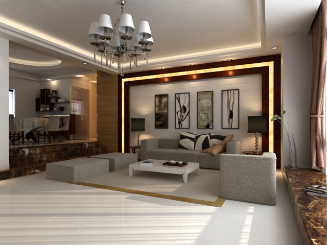 Living room 24 3d model buy living room 24 3d model for Living room designs 3d model