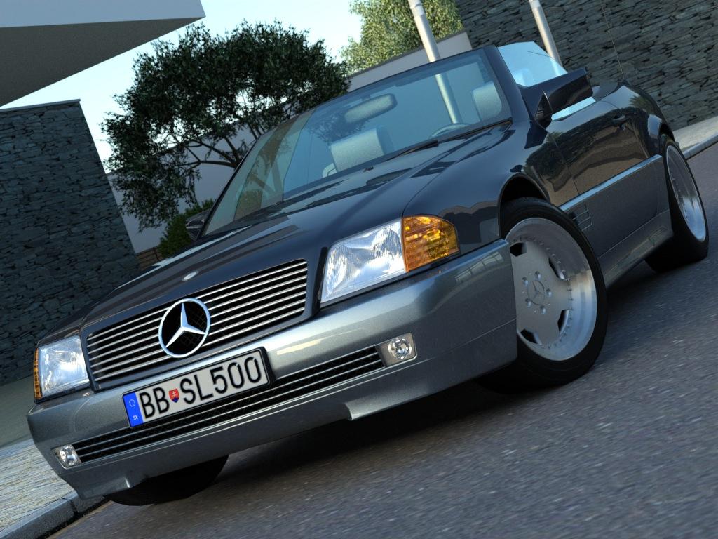 mercedes sl-class (1995) 3d модел 3ds максимум fbx c4d obj 186354