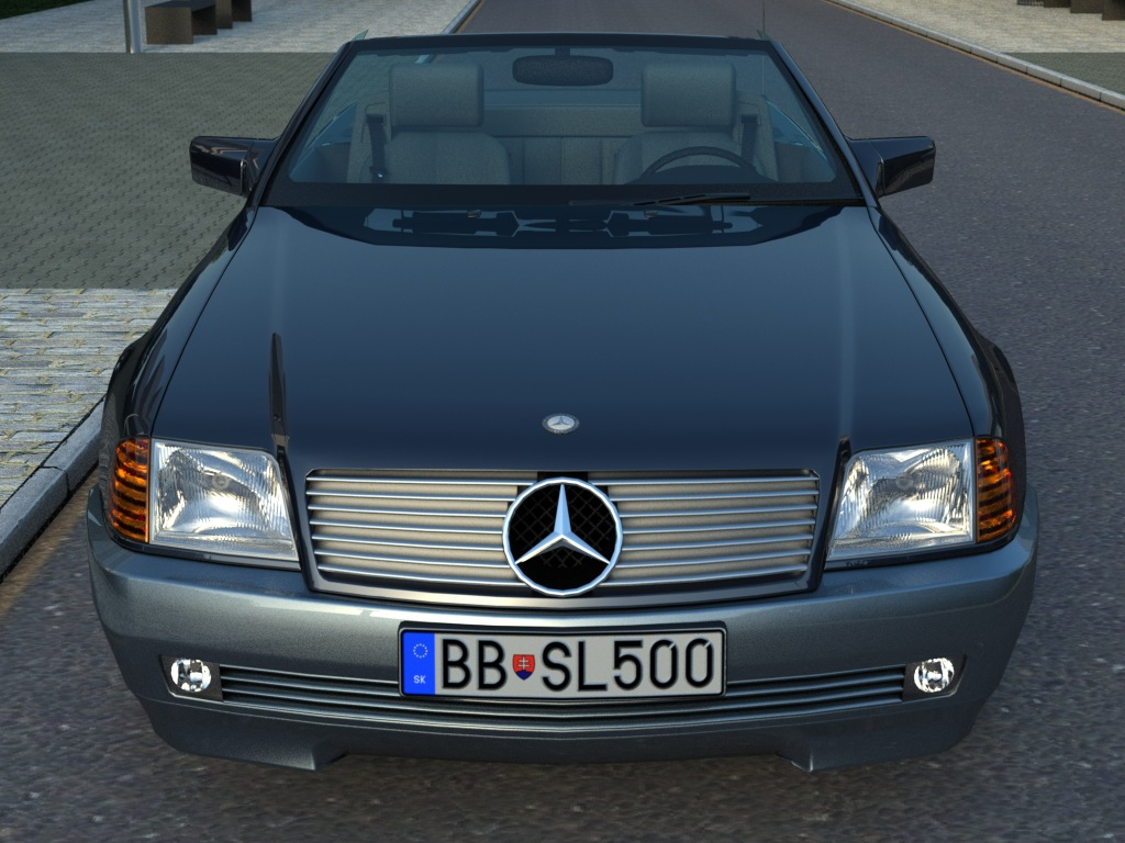 mercedes sl class 1995 3d model flatpyramid. Black Bedroom Furniture Sets. Home Design Ideas