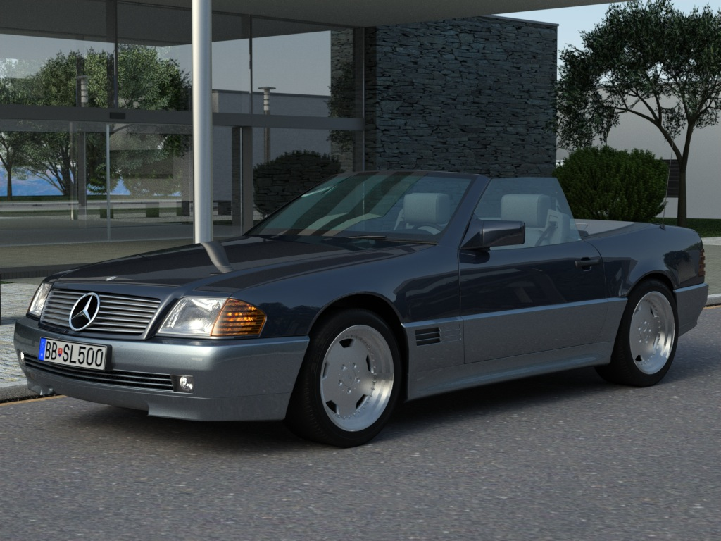 mercedes sl class 1995 3d model buy mercedes sl class. Black Bedroom Furniture Sets. Home Design Ideas