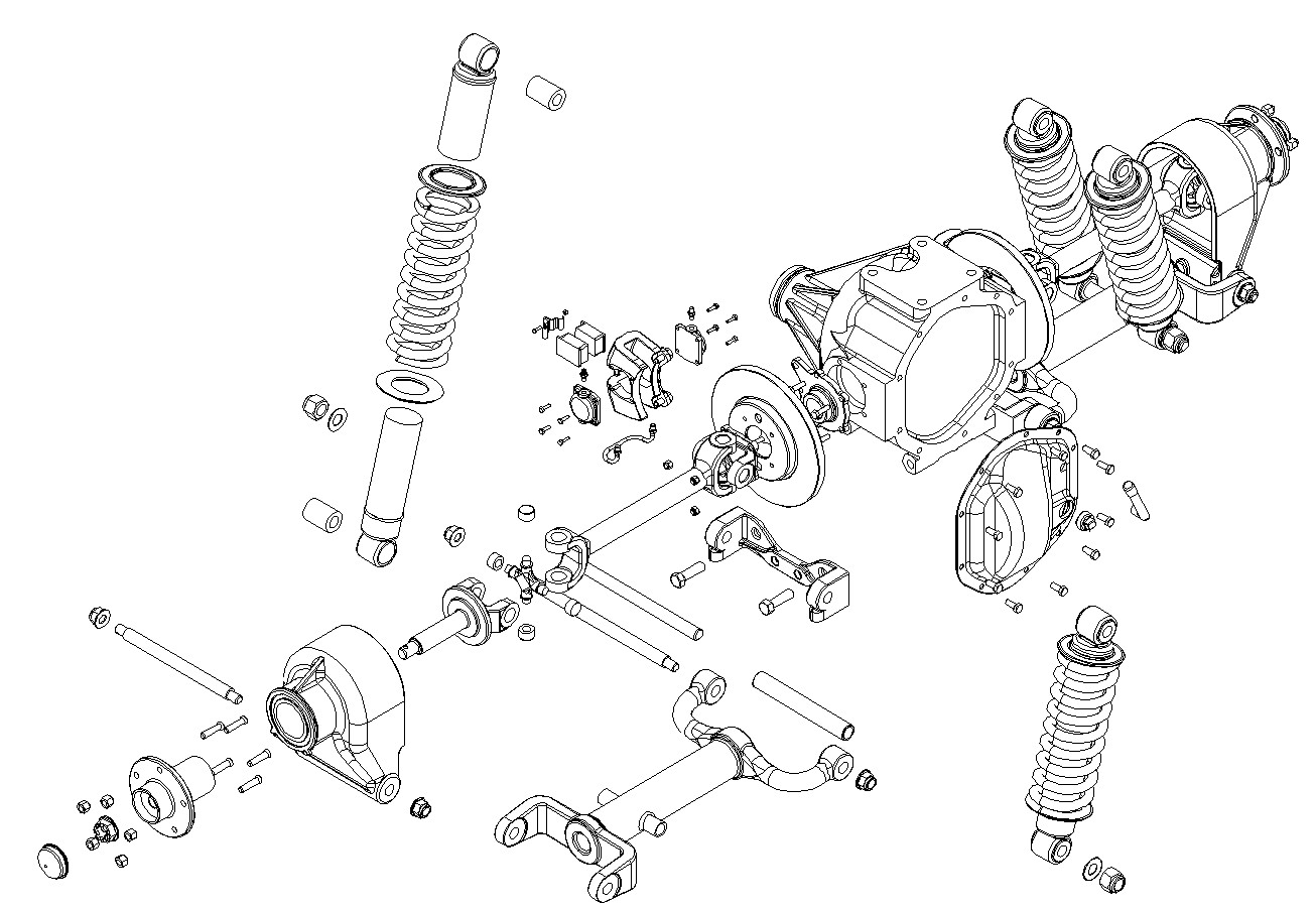 Jaguar Rear Suspension D Model Sample on Chevrolet Rear Differential Diagram
