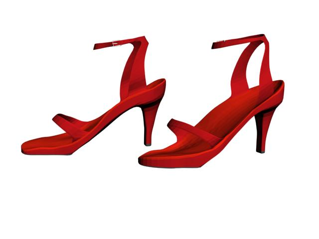 Red Shoes 3D Model – Buy Red Shoes 3D Model