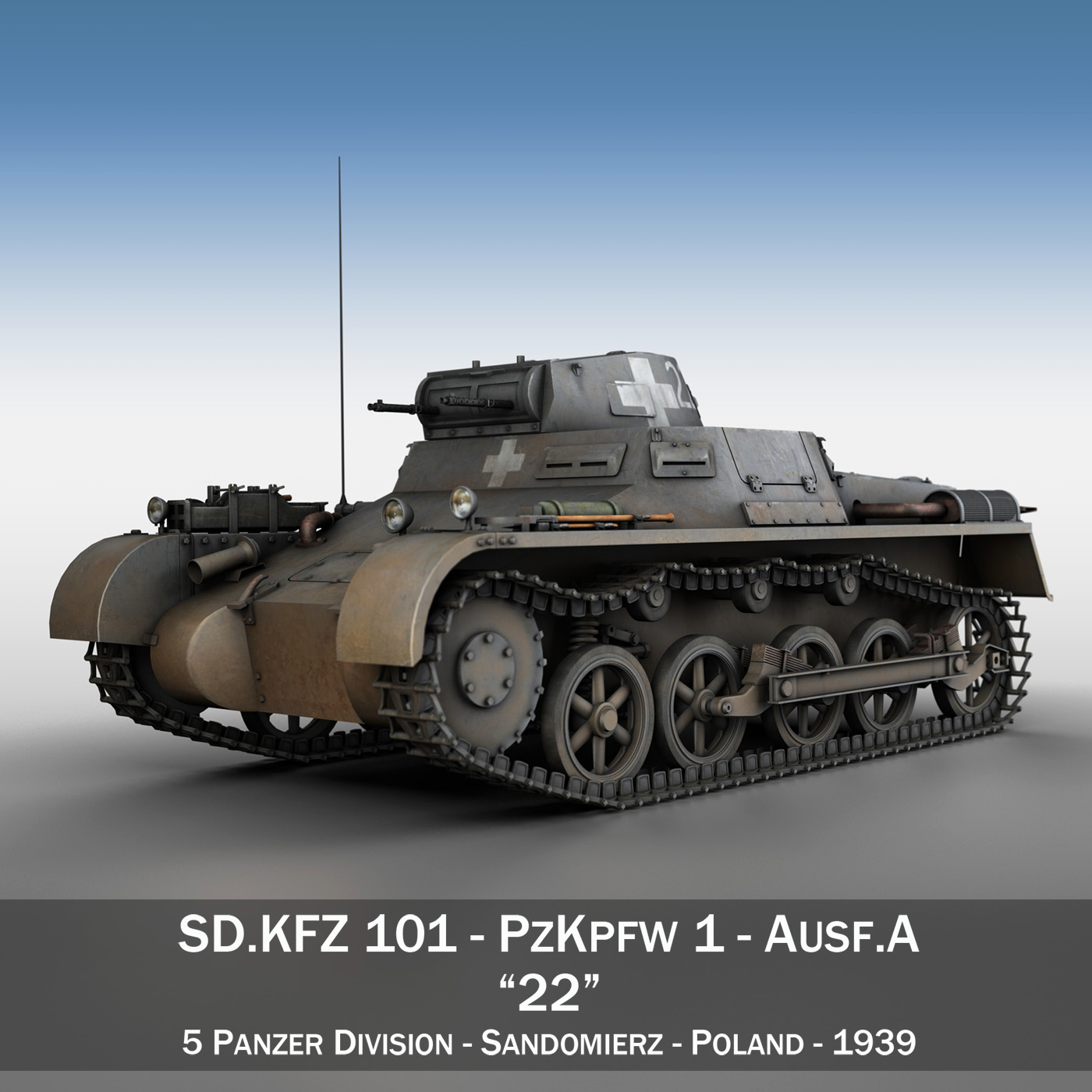 pzkpfw 1 - Panzer 1 - ausf. a - 22 3d modell 3ds fbx c4d lwo obj 186926