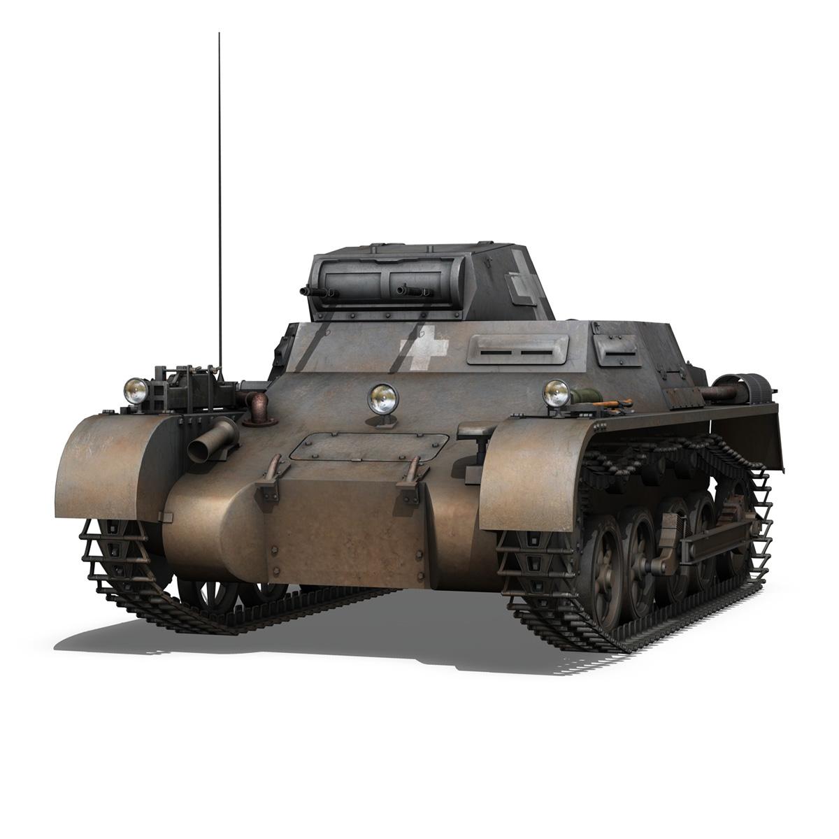 pzkpfw 1 - Panzer 1 - ausf. a - 22 3d modell 3ds fbx c4d lwo obj 186927