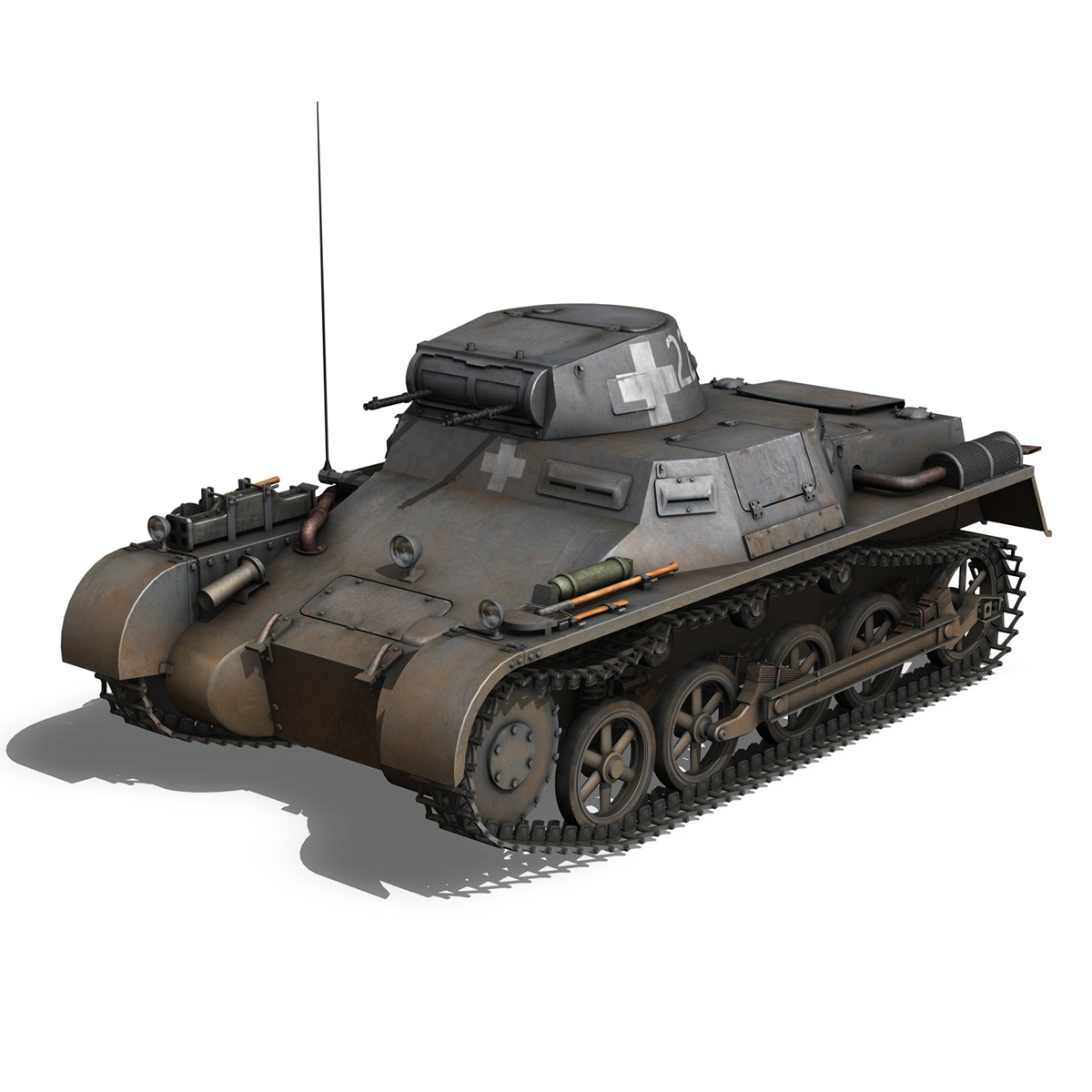 pzkpfw 1 – panzer 1 – ausf. a – 22 3d model 3ds fbx c4d lwo obj 186928
