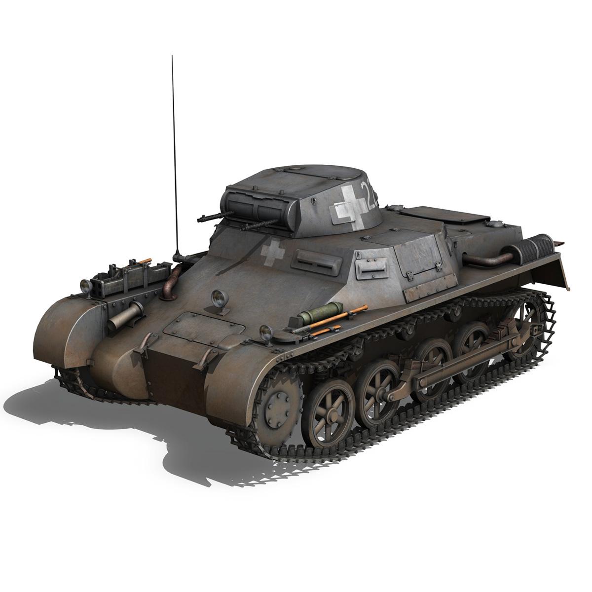 pzkpfw 1 - Panzer 1 - ausf. a - 22 3d modell 3ds fbx c4d lwo obj 186928