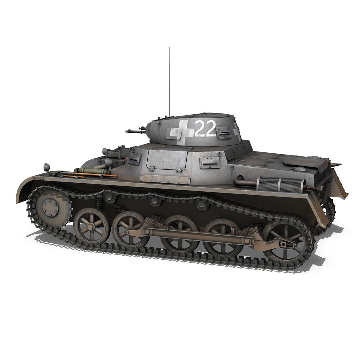 pzkpfw 1 - Panzer 1 - ausf. a - 22 3d modell 3ds fbx c4d lwo obj 186929