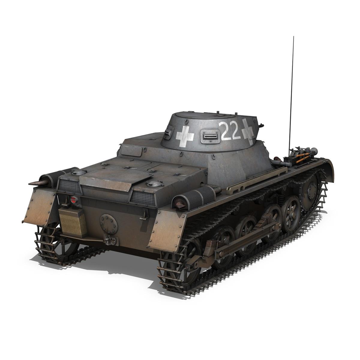 pzkpfw 1 - Panzer 1 - ausf. a - 22 3d modell 3ds fbx c4d lwo obj 186930