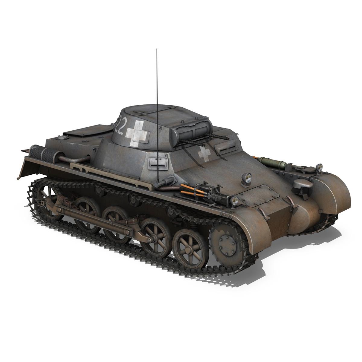 pzkpfw 1 - Panzer 1 - ausf. a - 22 3d modell 3ds fbx c4d lwo obj 186931