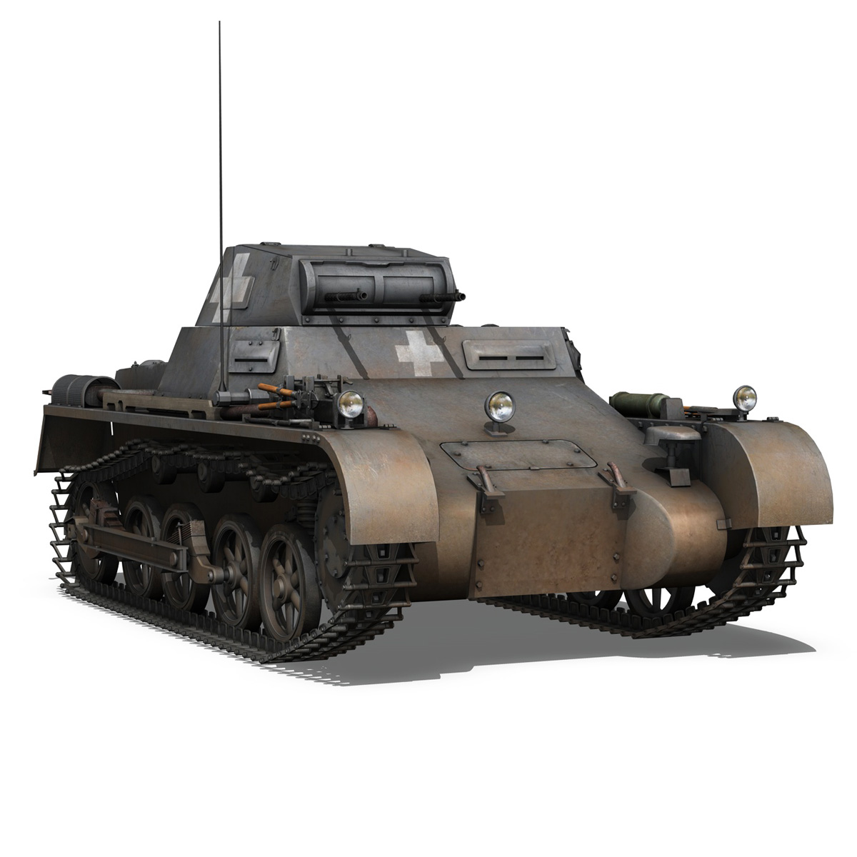 pzkpfw 1 - Panzer 1 - ausf. a - 22 3d modell 3ds fbx c4d lwo obj 186932