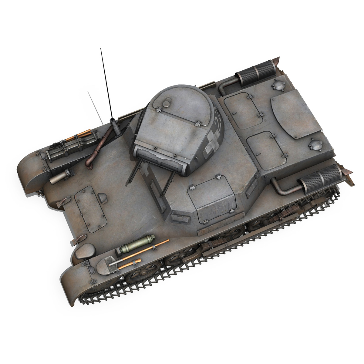 pzkpfw 1 – panzer 1 – ausf. a – 22 3d model 3ds fbx c4d lwo obj 186933