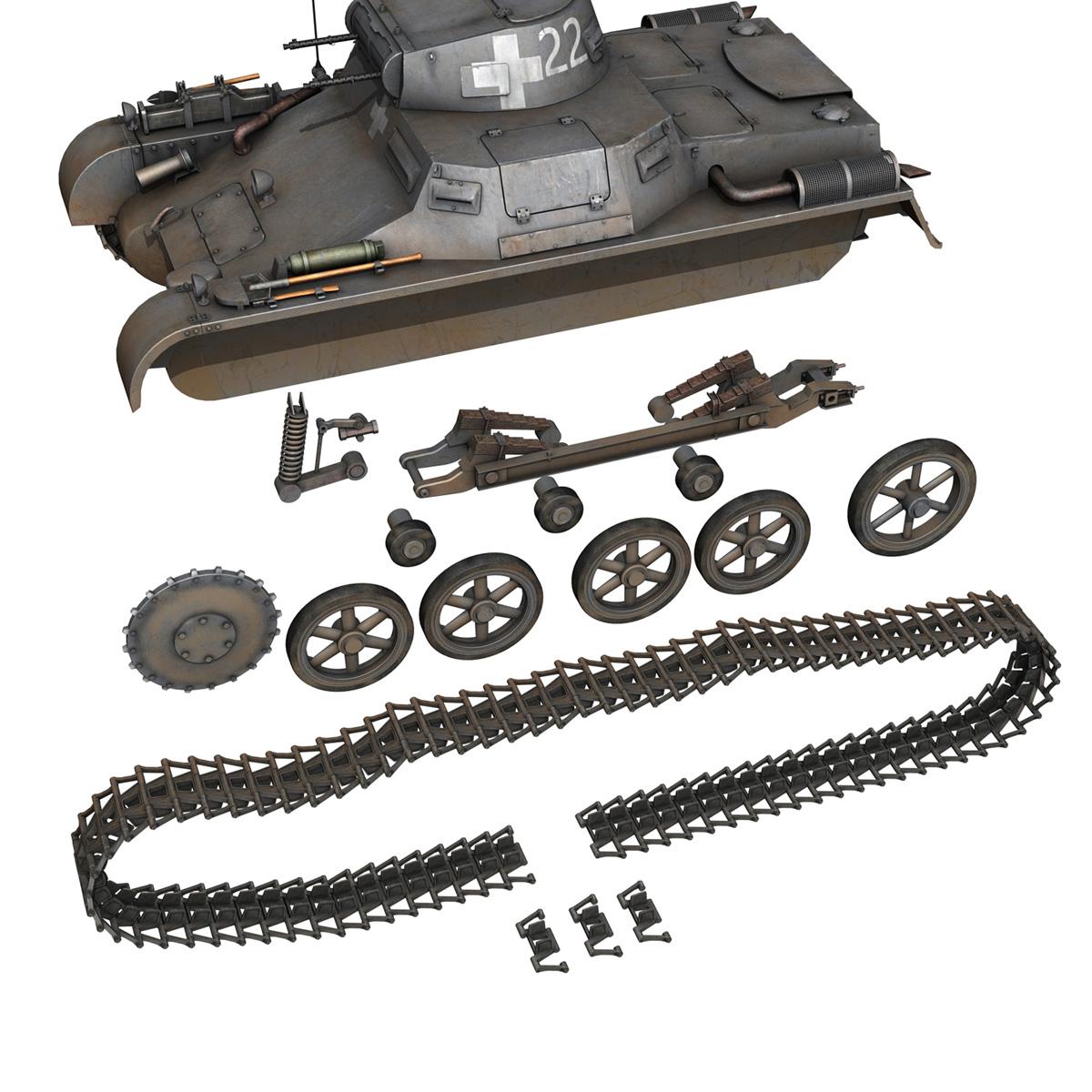 pzkpfw 1 – panzer 1 – ausf. a – 22 3d model 3ds fbx c4d lwo obj 186934
