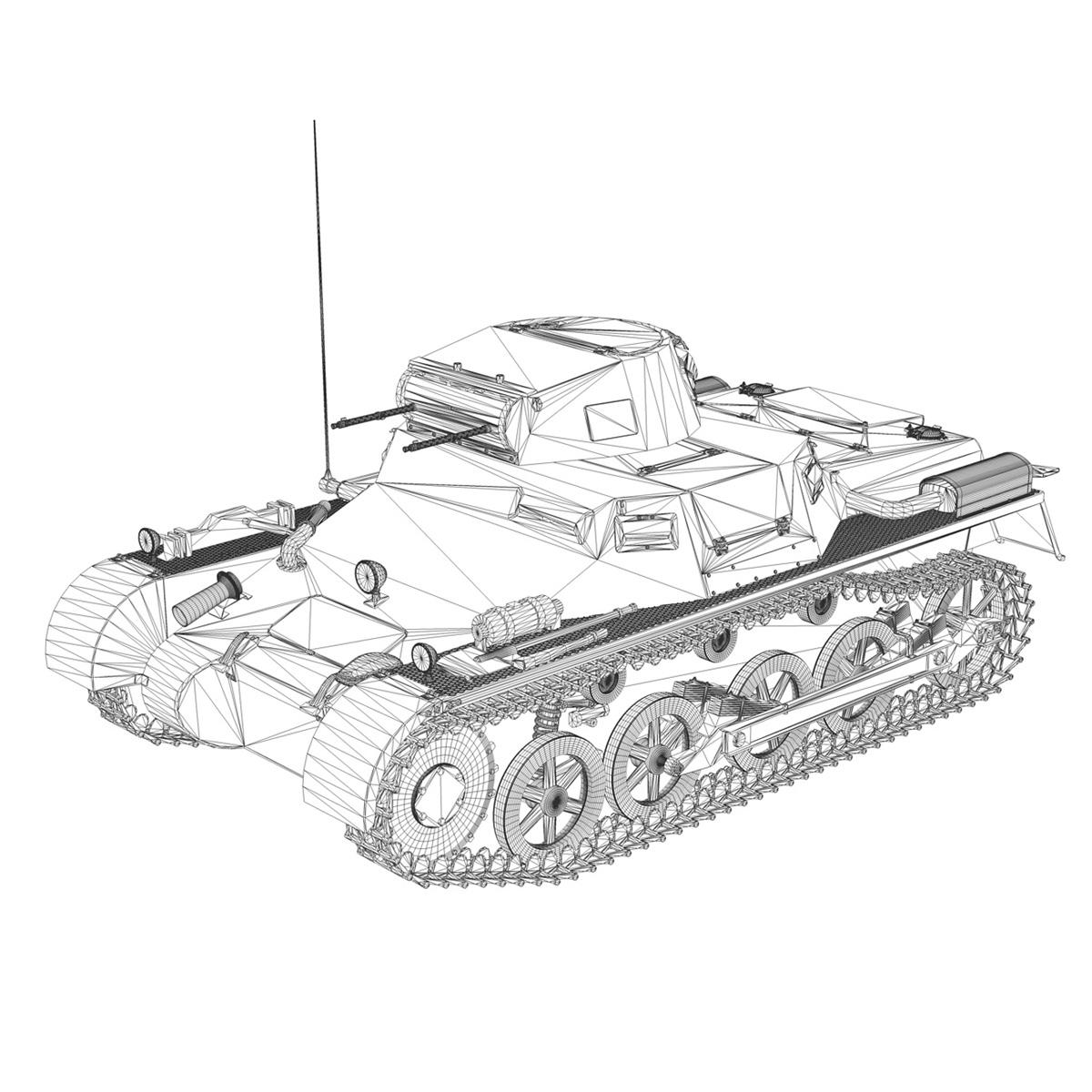 pzkpfw 1 - Panzer 1 - ausf. a - 22 3d modell 3ds fbx c4d lwo obj 186935