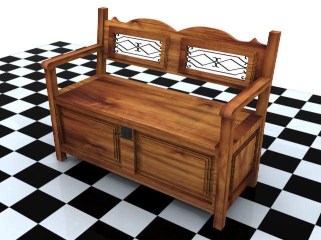 Banca 3d model buy banca 3d model flatpyramid Buy model home furniture online