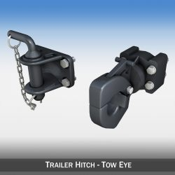 Trailer hitch - Tow eye 3d model 0