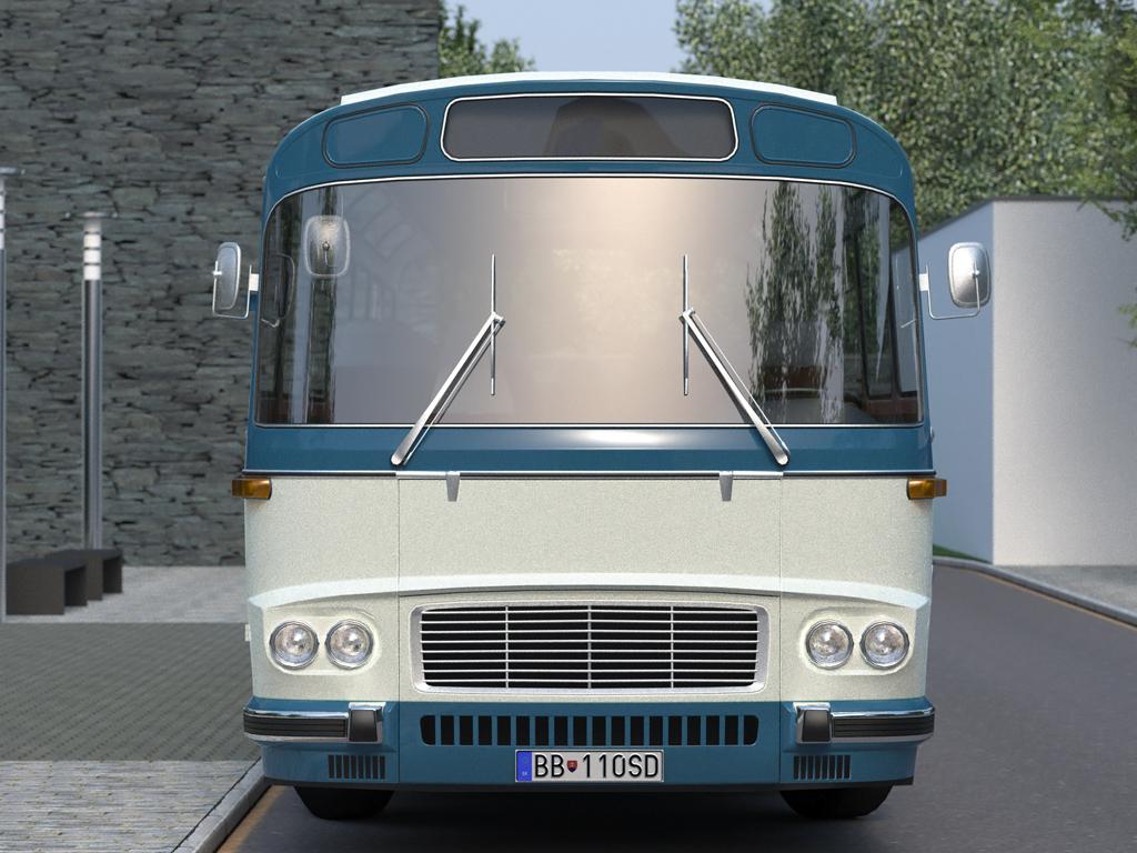 karosa sd11 (1965) 3d model 3ds max fbx c4d obj 187245