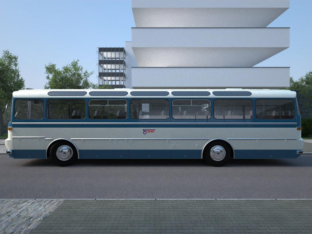 karosa sd11 (1965) 3d model 3ds max fbx c4d obj 187246