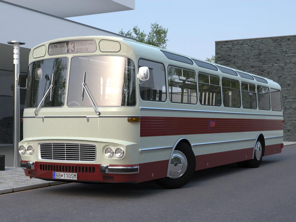 karosa sm11 (1965) 3d model 3ds max fbx c4d obj 187268