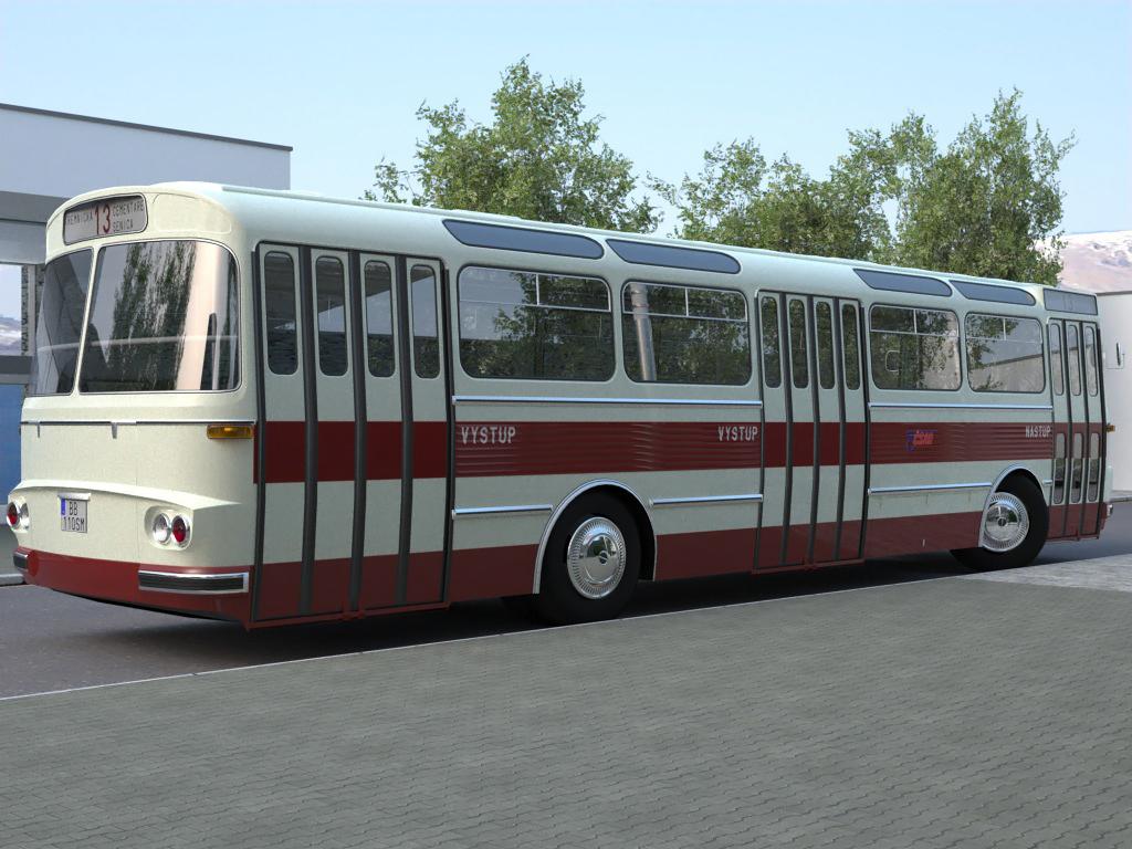 karosa sm11 (1965) 3d model 3ds max fbx c4d obj 187269
