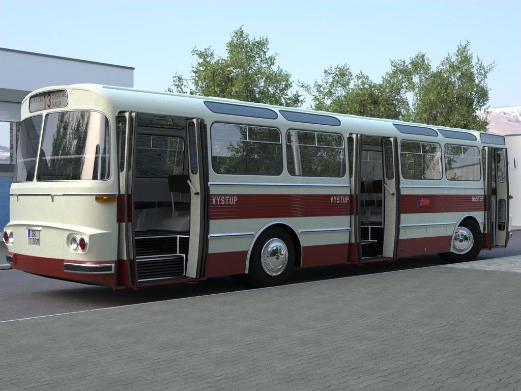 karosa sm11 (1965) 3d model 3ds max fbx c4d obj 187270