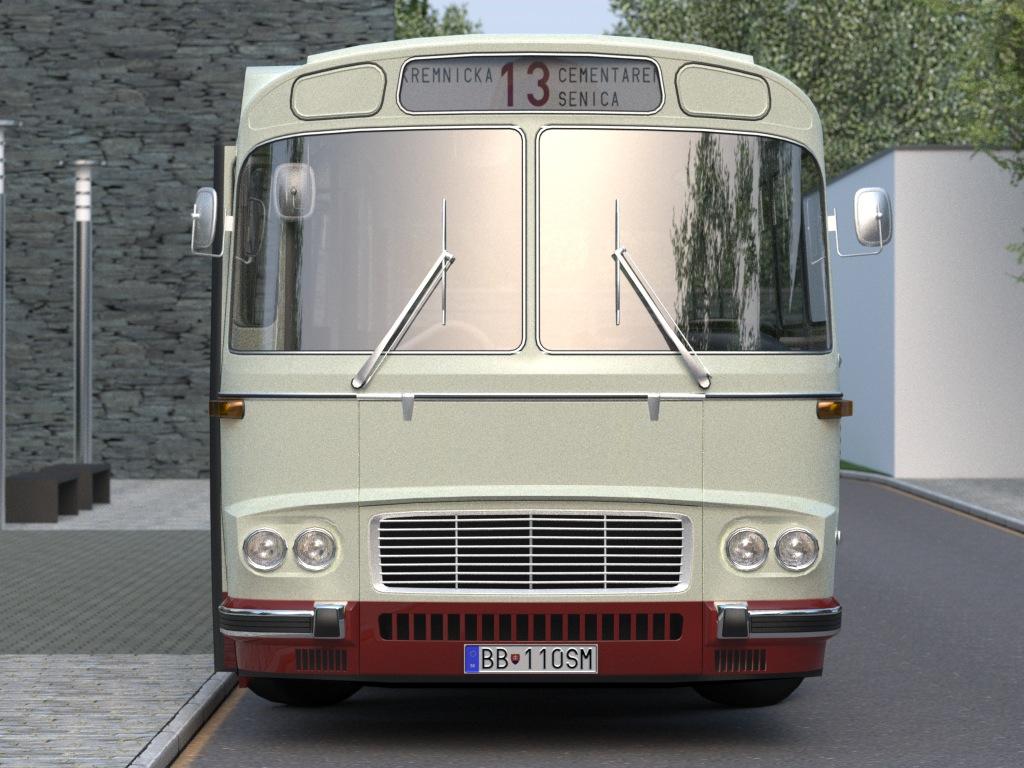karosa sm11 (1965) 3d model 3ds max fbx c4d obj 187271