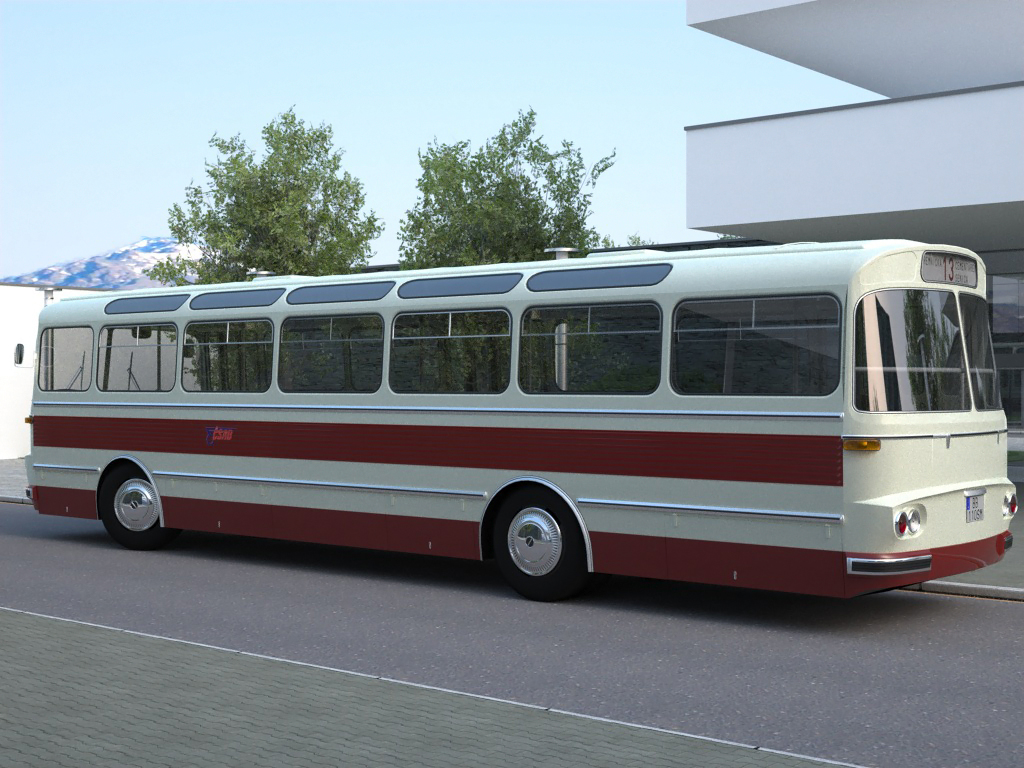 karosa sm11 (1965) 3d model 3ds max fbx c4d obj 187273