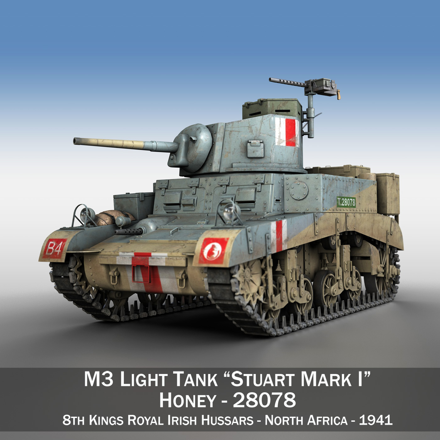 m3 light tank honey 3d model 3ds fbx c4d lwo obj 187313